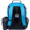 Dynamic Discs TROOPER BACKPACK Bag for Disc Golf - half blue and half black bag, back view, showing straps