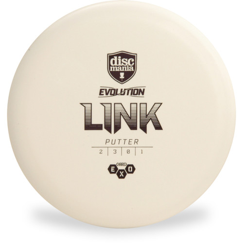 Discmania Evolution EXO HARD LINK Putter & Approach Golf Disc Top View White