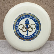 WHAM-O 100 D MOLD - OLYMPISKA BLUE STAMP - FRISBEE FLYING DISC