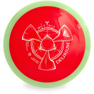 Axiom NEUTRON DELIRIUM Distance Driver Golf Disc Top View Red/Green