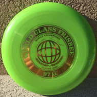 WHAM-O FRISBEE WORLD CLASS KRAE & LAURA 119G  - GREEN - VERY GOOD CONDITION