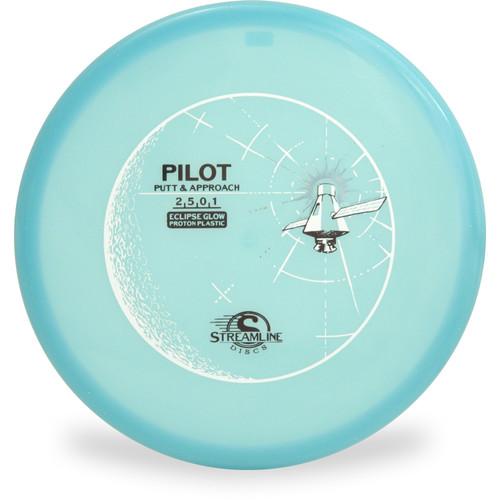 Streamline ECLIPSE PILOT GLOW Putter & Approach Blue Top View