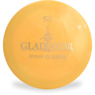 LATITUDE 64 GLADIATOR DISC GOLF DRIVER - RECYCLED Yellow Top View