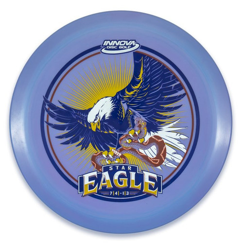 Innova STAR EAGLE - INNFUSE Design - top view of purple disc