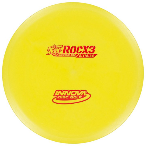 Innova XT ROCX3 Mid-Range - top view of yellow disc
