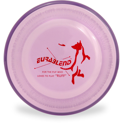 Wham-O EURABLEND FASTBACK Dog Disc - Extra Durable Frisbee Flyer (Asst Colors) Purple Front View