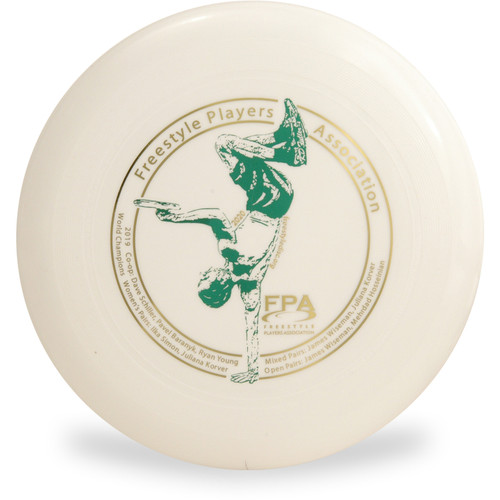 WHAM-O 100 MOLD FRISBEE - Custom FPA 2020 Design White Top View