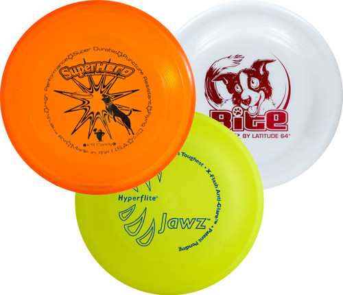Premium Dog Disc 3 Pack - Three Top K9 Frisbees - Best Training Discs Sampler
