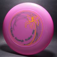 Sky-Styler Colorado Freestyle Frisbee 1984 Purple w/ Green and Yellow Matte-T80