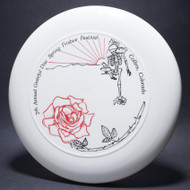 7th Annual Grateful Disc White w/ Red and Black Matte Top View