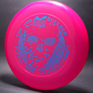 1990 Boulder Flying Disc Champ Pink w/ Blue Foil