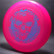 1990 Boulder Flying Disc Champ Pink w/ Blue Foil