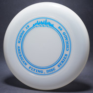 Sky-Styler North American Flying Disc Series Chicago 80 Clear w/ Blue Foil-TR Top View