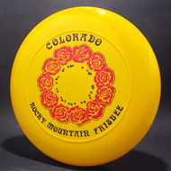 Sky-Styler Colorado RM Frisbee Roses Yellow w/ Red Foil Roses and Black Matte