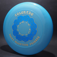Sky-Styler Colorado RM Frisbee Roses Blue w/ Blue Foil Roses and Metallic Gold