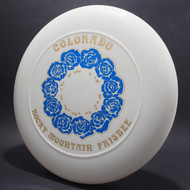 Colorado RM Frisbee Roses White w/ Blue Foil Roses and Metallic Gold-NT