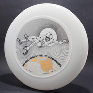1982 World Freestyle Frisbee Championships Audtin TX White w/ Black Matte and Metallic Gold