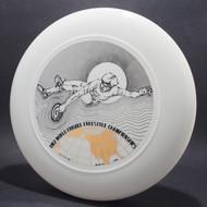 1982 World Freestyle Frisbee Championships Audtin TX White w/ Black Matte and Metallic Gold