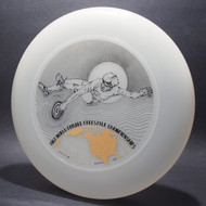 1982 World Freestyle Frisbee Championships Audtin TX Clear w/ Black Matte and Metallic Gold