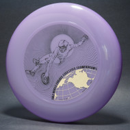 1982 World Freestyle Frisbee Championships Austin TX Purple w/ Black Matte and Metallic Gold - T80
