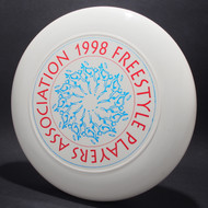 1998 FPA Tour Disc White w/ Metallic Blue and Metallic Red Text