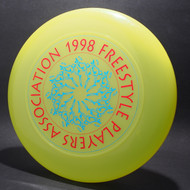 1998 FPA Tour Disc Bright Yellow w/ Metallic Blue and Metallic Red Text