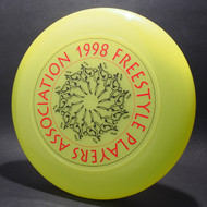 1998 FPA Tour Disc Bright Yellow w/ Black Matte and Metallic Red Text