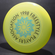 1998 FPA Tour Disc bright yellow w/ Metallic Blue and Black Matte Text