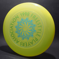 1998 FPA Tour Disc Neon Green w/ Metallic Blue and Metallic Green Text