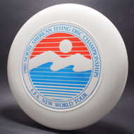 Sky-Styler FPA 1980 NA Flying Disc Championships White w/ Metallic Blue, Blue Matte, and Red Matte - TR - Top View