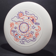 FPA 1999 World Freestyle Flying Disc Championships White w/ Orange and Purple Matte