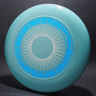 Sky-Styler Sun Glow Blue w/ White Matte Sun and Metallic Blue Ring - No Tooled Ring - Top View