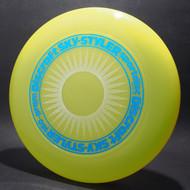 Sky-Styler Sun Bright Yellow w/ White Matte Sun and Metallic Blue Ring - T80 - Top View