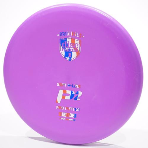 Discmania P-Line P2 Soft Purple Metallic Flag Top View