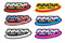 Innova Logo Sticker. Shows six colorway options spread out on white background.Innova Logo Sticker