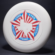 Sky-Styler Lone Star Austin Texas Frisbee White w/ Metallic Blue and Red Matte - TR
