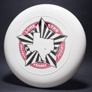 Sky-Styler Lone Star Austin Texas Frisbee White w/ Metallic Red and Black Matte - TR Top View