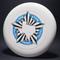 Sky-Styler Lone Star Austin Texas Frisbee White w/ Metallic Blue and Black Matte - TR Top View