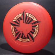 Sky-Styler Lone Star Austin Texas Frisbee Salmon w/ Metallic Gold and Black Matte - TR Top View
