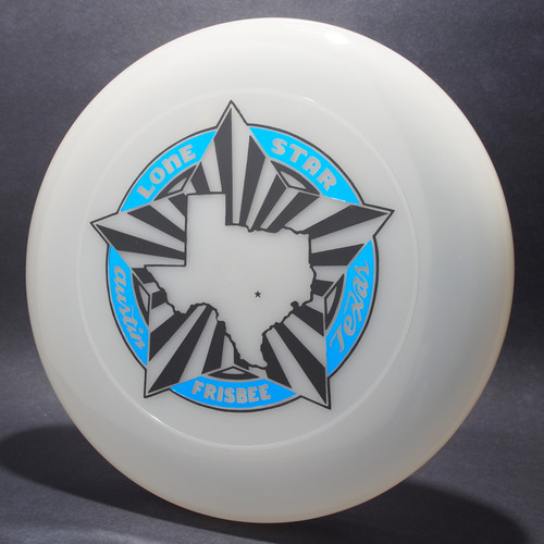 Sky-Styler Lone Star Austin Texas Frisbee Clear w/ Metallic Blue and Black Matte - TR Top View