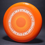 Sky-Styler Sun Orange w/ Yellow Matte Sun and White Matte Ring - No Tooled Ring - Top View