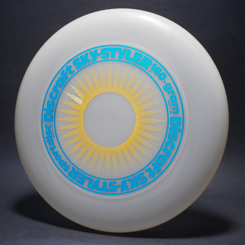 Sky-Styler Sun Clear w/ Yellow Matte Sun and Metallic Blue Ring - Tooled Ring - Top View