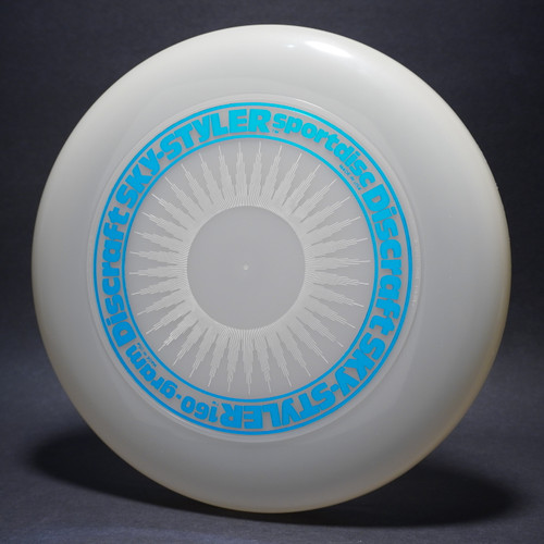 Sky-Styler Sun Clear w/ White Matte Sun and Metallic Blue Ring - Tooled Ring - Top View