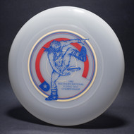 Sky-Styler 82 Southern National Flying Disc Championships Clear w/ Metallic Gold, Red and Blue Matte Top View
