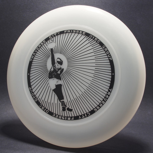 Sky-Styler Traverse City Frisbee Disc Group Clear w/ Black Matte - NT Top View