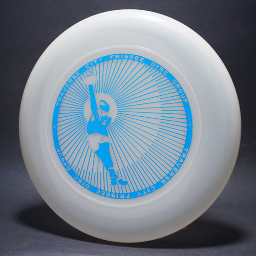 Sky-Styler Traverse City Frisbee Disc Group Clear w/ Metallic Blue - NT Top View