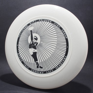 Sky-Styler Traverse City Frisbee Disc Group White w/ Black Matte - NT Top View