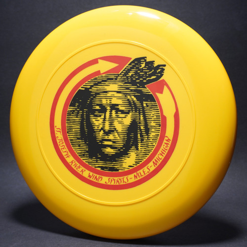 Sky-Styler St. Joseph River Wind Spirits Niles Michigan Yellow w/ Black and Red Matte Top View
