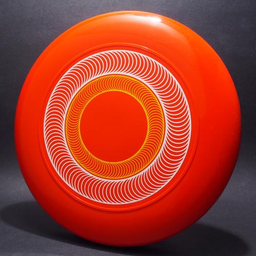 Sky-Styler Spirals Orange w/ White and Yellow Matte Top View