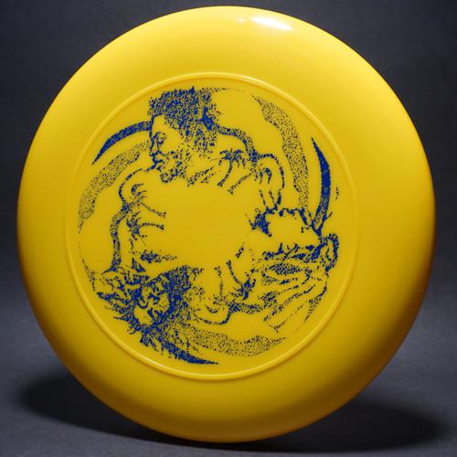 Rasta Trio Yellow w/ Blue Matte Top View